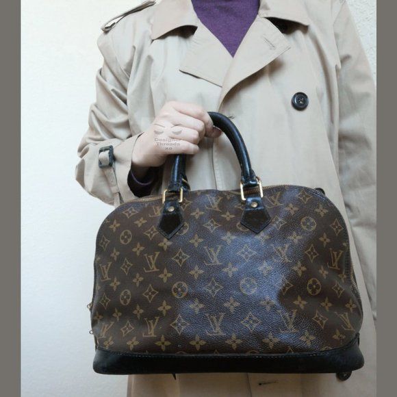 Auth Louis Vuitton Alma Monogram Canvas Handbag
